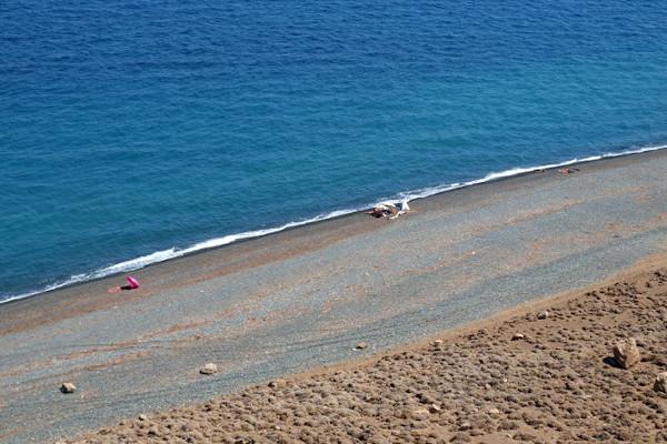 An overview of the Kipos (or Kipoi) Beach of the island of Samothraki.