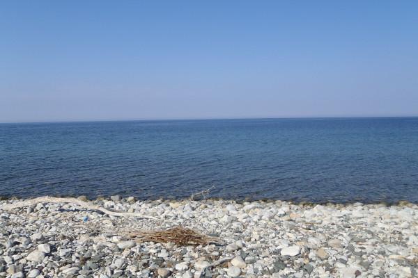 A photo of the beach of Therma on the island of Samothraki.