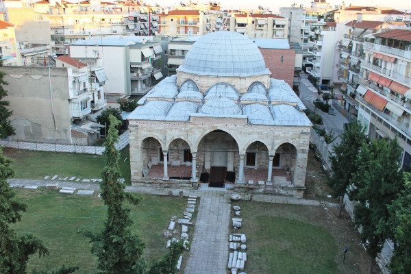 A panoramic picture of the Zincirli Mosque of Serres town.
