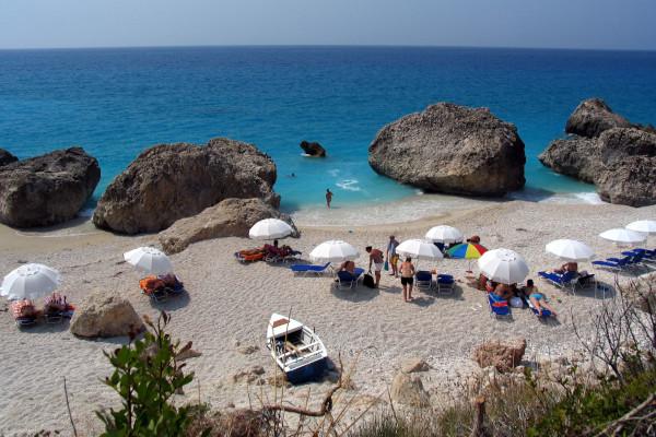 A photo of a part of Kalamitsi Beach at Sithonia, Halkidiki.