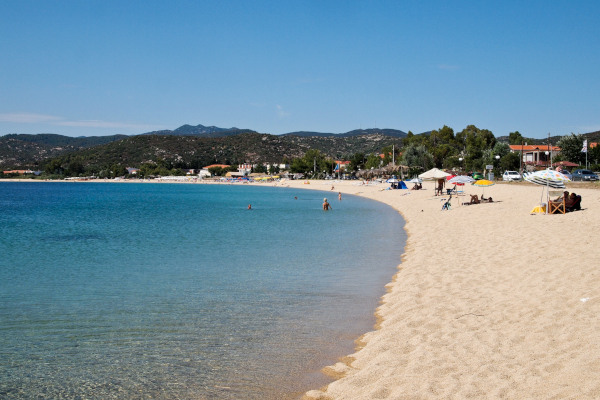 A picture showing the beach of Toroni on Sithonia of Halkidiki.