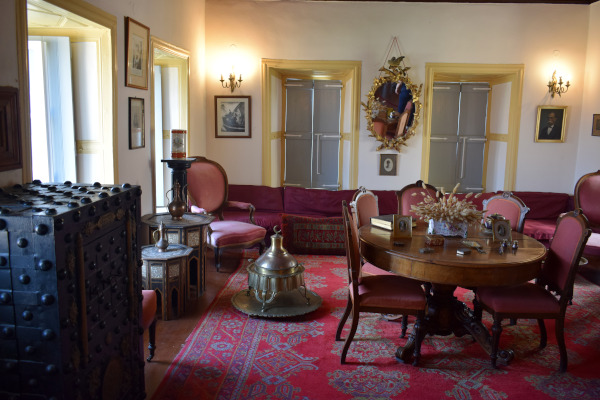 A photo showing one of the rooms of the Bouboulina Museum in Spetses.