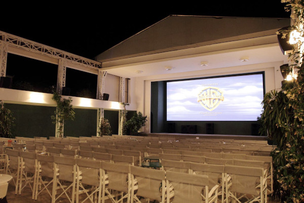 A photo showing the interior of the Ciné Titania at Spetses Town.