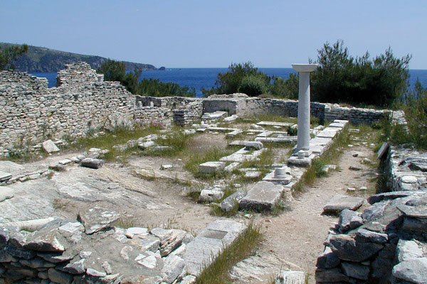The remains of the old basilica church of the ancient city of Aliki.