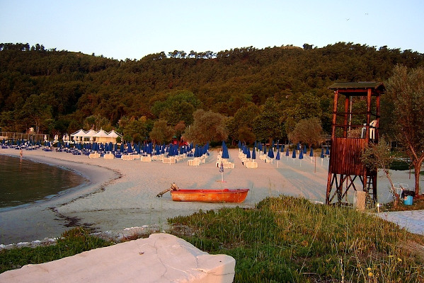 A picture of the Makryammos Beach on the island of Thasos.