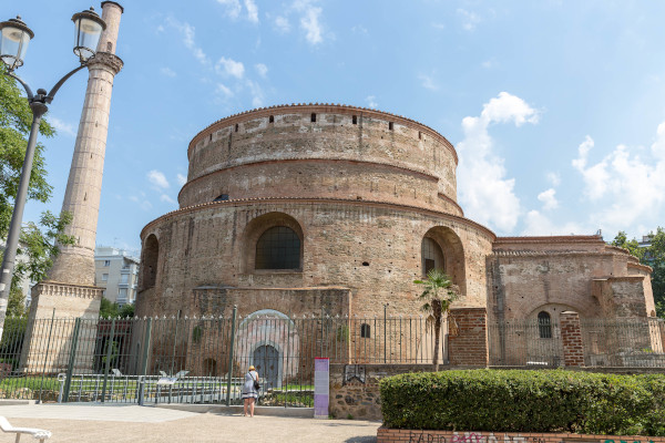 The exterior of the Roman temple of Rotonda in Thessaloniki.