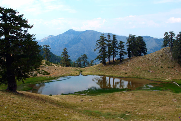 An overview of one of the Flega Lakes in Pindos National Park (Valia Kalda).