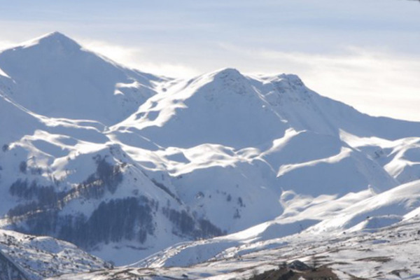 The mount Vitsi (or Verno as it is also called) covered with snow.