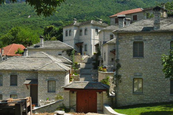 Some stone-built houses of the Aristi village of the Central Zagori area.