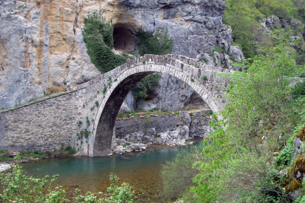An image showing the stone arched bridge of Kokkoros (Noutsos).