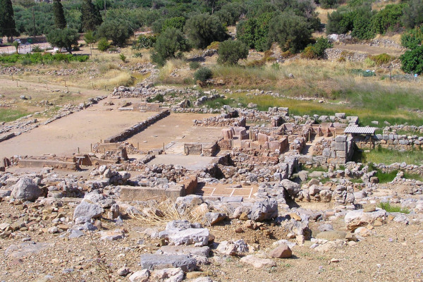 A photo of the ruins of the Minoan Palace of Zakros on Crete.