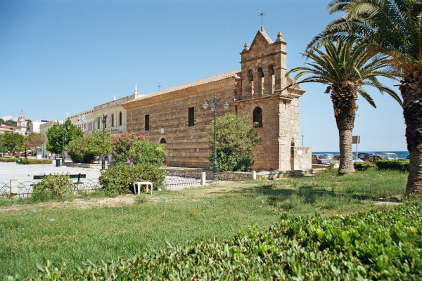 A picture of the exterior of the Church Agios Nikolaos of Molos in Zakynthos Town.