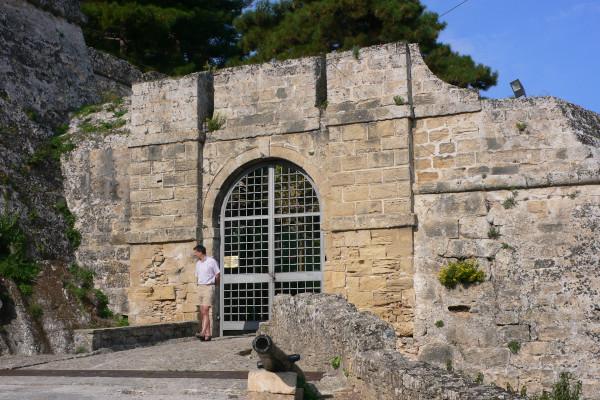 The main entrance of the Bochali Venetian Castle of Zakynthos.